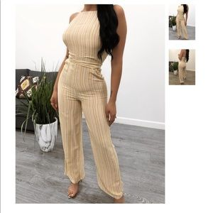 Elena striped jumpsuit